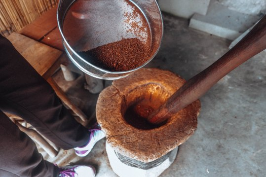 Grounding of the Coffee Beans